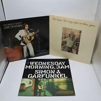 Paul Simon Vinyl Record Lot Garfunkel Wednesday Morning 3AM Live Rhymin 3 LPs