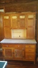 Sellers Hoosier Oak Kitchen Cabinet 1920-1930s With Menu & Shopping Inserts