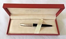ST Dupont Fidelio Black & Sterling Silver BallPoint Pen with pencil converter