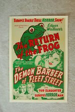 The Return of the Frog Lobby Card Movie Poster The Demon Barber of Fleet Street