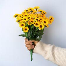 4pcs Artificial Sunflowers 20 Heads Silk Flower Bouquet Home Wedding Floral Deco