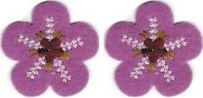 Spring Pink Flower Floral Embroidery Patch