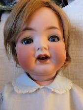 "25"" antique heubach koppelsdorf # 342 german baby doll open mouth bent limb body"