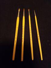 Lot 4 Grumbacher Round 874 Size 1 3 5 7 Sabeline Artist paint Brush vintage set