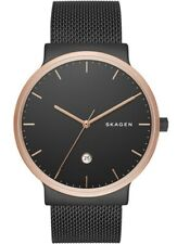 Skagen Watch * SKW6296 Ancher Rose Gold and Black Steel Mesh for Men COD PayPal