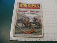 vintage pulp mag: WORK and WIN #255 oct 23,1903 FRED FEARNOT's BUFFALO HUNT