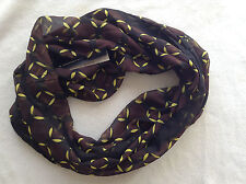 THE LIMITED INFINITY SCARF IN BROWN-MULTI NWT