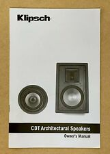 Klipsch CDT Architectural Speakers Owner Manual