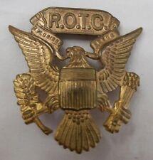 Reserve Officer's Training Corp Visor Cap Hat Military emblem Medal Pin Vintage