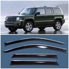Chrome Trim Window Visors Guard Vent Deflectors For Jeep Liberty / Patriot
