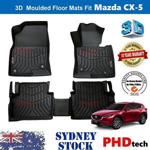 Prime Quality 3D TPE All Weather Floor Mats Liner Fit Mazda CX-5 KF 2017-2021