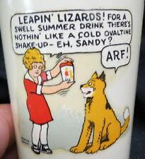 "1950s Little Orpham Annie & Sandy / Ovaltine advertising cup ""beetleware"" clean"