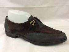 Rockport Womens 8 Med Oxfords Brown Pointed Toe Leather Suede Dress Shoes Casual