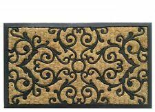EHC Panama Natural Coir & Rubber Non-slip Door Mat 45x75cm - Brown (E7-9151)