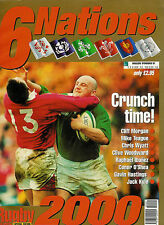 SIX NATIONS RUGBY TOURNAMENT 2000 PREVIEW RUGBY NEWS MAGAZINE GUIDE