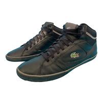 Lacoste Men's Lace Up Ankle Casual Shoes Size Uk 9 EUR 43 Black Trainers Logo