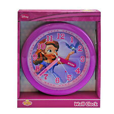"DISNEY PRINCESS SOFIA THE FIRST DECORATIVE KIDS GIRLS ROOM 10"" ROUND WALL CLOCK"