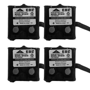 4 Pack Replacement Battery UNIDEN BP-38 BP-39 BP-40 380 680 GMR/FRS 2-way Radio
