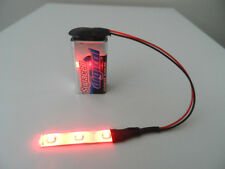 WAR GAMING MODEL SCENERY 1 X 5 CM RED LED STRIP LIGHT WITH 9V PP3 CONNECTOR 1p