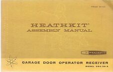 HEATHKIT GDA-20-2 ASSEMBLY MANUAL GARAGE DOOR OPERATOR TRANSMITTER