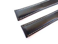 KALBSLEDERBAND schwarz 20/18 speziell passend für Breitling-Faltschließen
