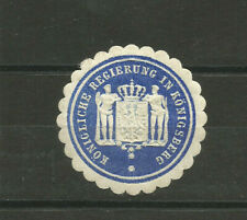 Russia/Prussia Kaliningrad (Königsberg) Royal Government stationery seal