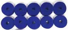 "Ahead Blue Wool Cymbal Felts, 10 pack 1.5"" x .5"""