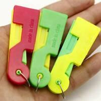 3pcs Useful Mini Automatic Sewing Needle Threading Guide Device Tool Threader US