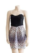 Sheike Animal Print and Black Strapless Dress New with Tags - Size 10