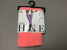 NWT Women's Hue Chinos Skimmer Leggings Size XL Neon Red #325P