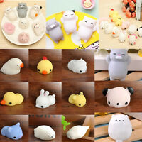 Mochi Soft Animal Squeeze Stretch Compress Squishy Relief Decompression Toy gift