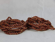 2 Braided Rope Christmas Tree Tinsel Garland Red & Gold 37 Ft Total