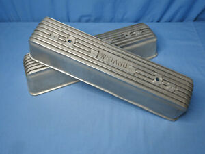 Rare! Vintage Original '50s Weiand Oldsmobile Finned Aluminum Valve Covers Olds