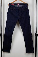 Pretty Green Burnage Indigo Blue factory Aged Jeans Size W32 L32 Regular Fit