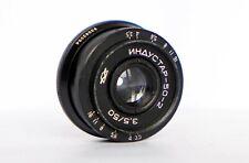 Industar 50-2 Soviet black pancake lens for SLR 3.5/50 M42 mount KMZ Zenit