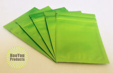 50 Green 3.5x5 Aluminum/Foil Pouches, Mylar Ziplock Bags, Smell Proof Packaging