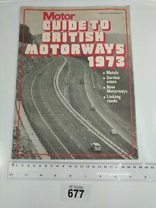 Vintage 1973 British Motor Map Guide to British Motorways Very Rare #677