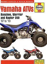 2314 Haynes Yamaha Banshee Warrior & Raptor ATVs (1987 - 2010) Workshop Manual