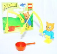 Lego FABULAND RICKY RACCOON ON HIS SCOOTER ANIMAL CHARACTER Figure Set Mint`83!