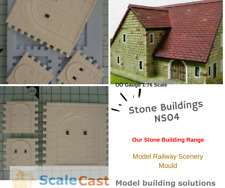Linka Compatible NS04 Stone Building Mould - Model Railway Scenery - ScaleCast