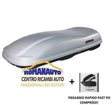 *GRIGIO METALLIZZATO* BAULE FARAD MARLIN F3 N7 680 LT (Auto Portabagagli tetto)