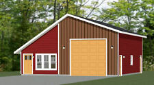 34x42 1 RV Garage - 1 Bedr Apartment - 1,400 sq ft - PDF Floor Plan - Model 2F