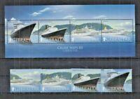 090. GIBRALTAR 2007 SET/6 STAMP + M/S CRUISE SHIPS III . MNH