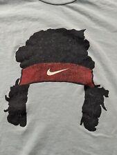RARE Pre-owned Nike John McEnroe Tennis T Shirt M Recent Light Blue