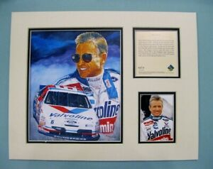 1995 MARK MARTIN #6 Nascar 11x14 MATTED Kelly Russell Lithograph Print