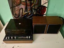 Vintage General Electric Solid State Turntable & Speaker Set