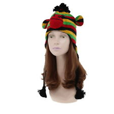 Funny Animal Hand Knit Wool Ski Beanie Trooper Hat Made in NEPAL Colorful Monkey