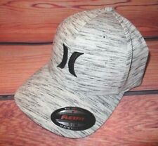 MENS HURLEY LIGHT GRAY MARBLE HAT FLEX FIT FITTED CAP SIZE S/M