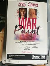 War Paint Promotional Poster Patti LuPone, Broadway chicago, Christine Ebersole