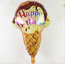 "Happy Birthday ice cream foil balloon  61cm  24"" popsickle      plus free ribbon"